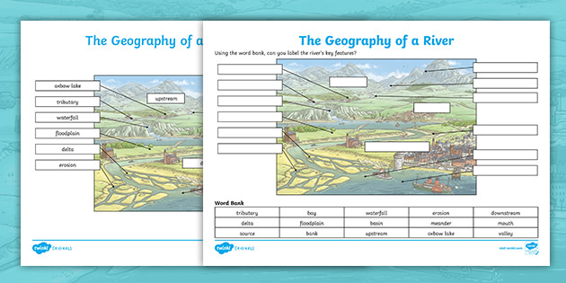 Diagram Of A River Ks2 Labelling Activity  Teacher Made