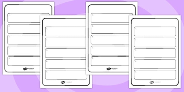 Editable Instruction Writing Frames - instruction, writing, order