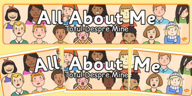 All About Me Display Banner Romanian Translation - romanian