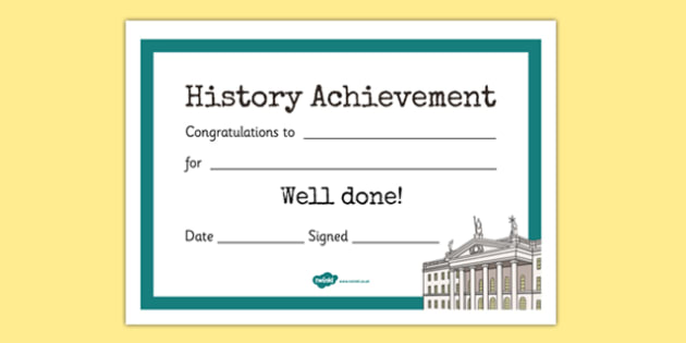 1916 Rising Themed History Achievement Certificates - gaeilge, irish, 1916 rising, history, achievement, certificates