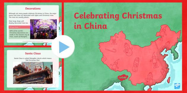 Celebrating Christmas in China PowerPoint - Christmas, Nativity, Jesus, xmas, Xmas, Father Christmas, Santa, St Nic, Saint Nicholas, traditions,