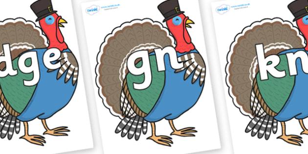 Silent Letters on Turkey Lurky - Silent Letters, silent letter, letter blend, consonant, consonants, digraph, trigraph, A-Z letters, literacy, alphabet, letters, alternative sounds