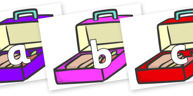 Phoneme Set on Lunch Boxes - Phoneme set, phonemes, phoneme, Letters and Sounds, DfES, display, Phase 1, Phase 2, Phase 3, Phase 5, Foundation, Literacy