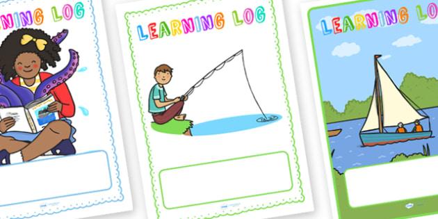 Learning Log Book Folder Cover - learning, log book, folder cover, folder, covers, learning log books, book covers, covers for folders, folder coverings