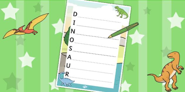 Dinosaur Acrostic Poem Template - dinosaurs, poem, poetry, rhyme