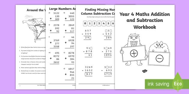 Maths Workbook PDF - Printable Year 4 Maths Worksheets