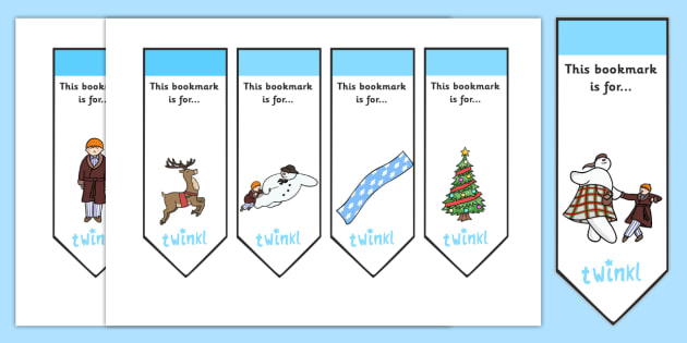 Bookmarks Editable to Support Teaching on The Snowman - the snowman, bookmarks, xmas