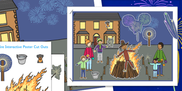 Bonfire Night Interactive Poster - bonfire night, interactive, poster, display, bonfire