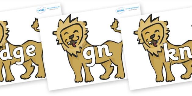 Silent Letters on Lions - Silent Letters, silent letter, letter blend, consonant, consonants, digraph, trigraph, A-Z letters, literacy, alphabet, letters, alternative sounds