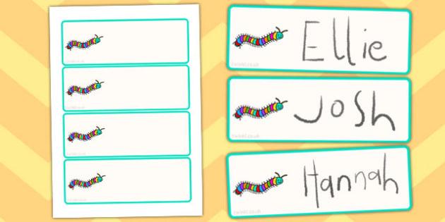 Centipedes Drawer Peg Name Labels - centipedes, labels, minibeast