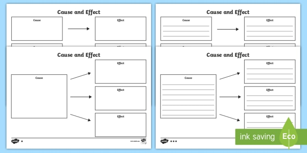 Cause and Effect Template Differentiated Worksheet / Activity