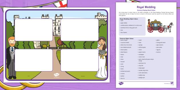 New Royal Wedding Themed Sensory Board Harry Meghan