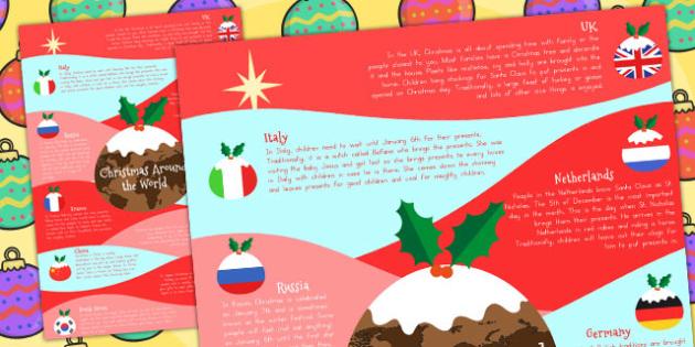 Christmas Around the World Poster A4 - australia, christmas, a4