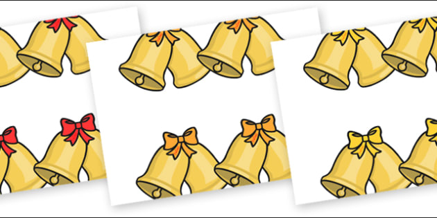 Editable Bells - Christmas, xmas, bell, editable, tree, advent, nativity, santa, father christmas, Jesus, tree, stocking, present, activity, cracker, angel, snowman, advent , bauble