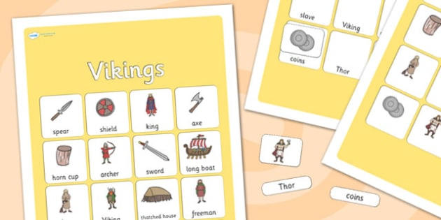 Vikings Vocabulary Poster - vikings, display posters, themed posters, image, pictures, key words, ancient egyptian vocabulary, vocabulary, vikings keywords
