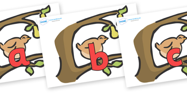 Phoneme Set on Partridge in a Pear Tree - Phoneme set, phonemes, phoneme, Letters and Sounds, DfES, display, Phase 1, Phase 2, Phase 3, Phase 5, Foundation, Literacy
