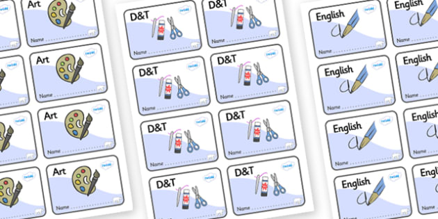 Polar Bear Themed Editable Book Labels - Themed Book label, label, subject labels, exercise book, workbook labels, textbook labels