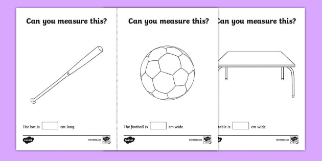 Grade 1 measurement worksheets: Measuring lengths in centimeters ...