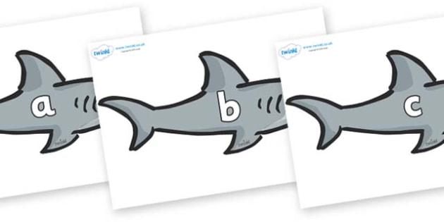 Phase 2 Phonemes on Sharks - Phonemes, phoneme, Phase 2, Phase two, Foundation, Literacy, Letters and Sounds, DfES, display