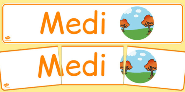 Medi Display Banner Cymraeg - cymraeg, year, months of the year, september
