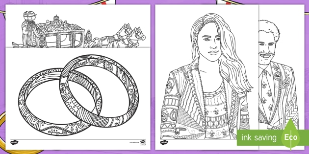 NEW The Royal Wedding Mindfulness Colouring Pages