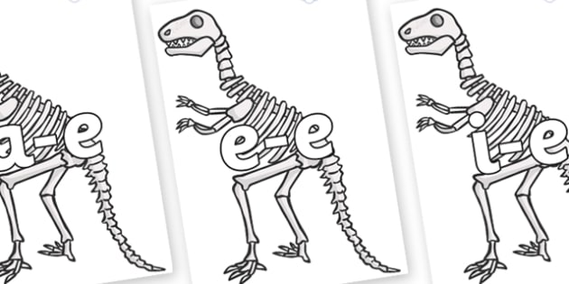 Modifying E Letters on Dinosaur Skeletons - Modifying E, letters, modify, Phase 5, Phase five, alternative spellings for phonemes, DfES letters and Sounds