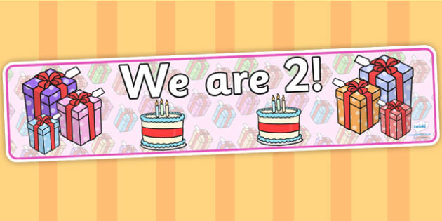 We Are Age Two Display Banners - age,  we are age, class display