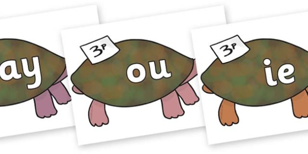 Phase 5 Phonemes on Turtle to Support Teaching on The Great Pet Sale - Phonemes, phoneme, Phase 5, Phase five, Foundation, Literacy, Letters and Sounds, DfES, display