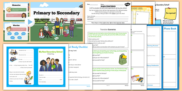 Secondary Transition Resource Pack - Year 6 to Year 7 Activities
