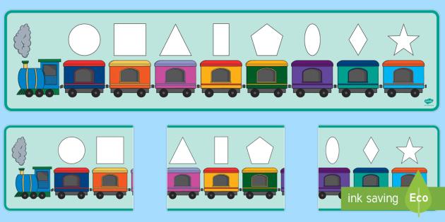 Train Templates Basic Shapes Puzzle – PhoneNinja