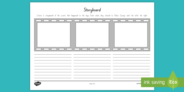 Confronting George Storyboard Template To Support Teaching On