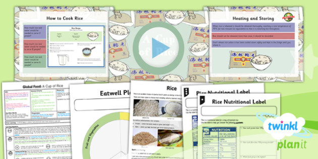 D&T: Global Food: A Cup of Rice UKS2 Lesson Pack 3