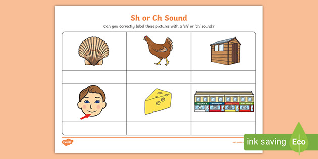 Sh Or Ch Sound Phonics Worksheet Free English Resource Twinkl