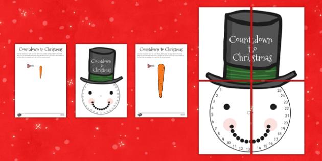 Count Down to Christmas Snowman - snow, visual, display, displays