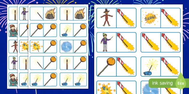 Bonfire Night Themed Domino Game