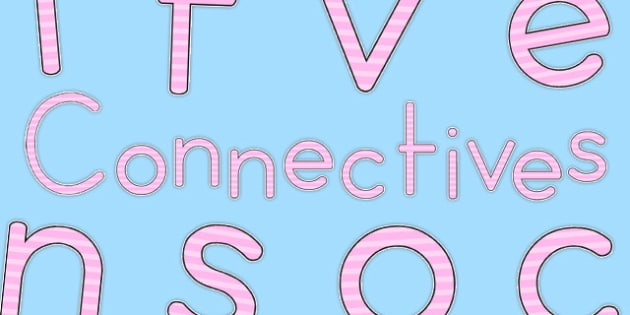 Connectives Display Lettering Pink - australia, connectives, display