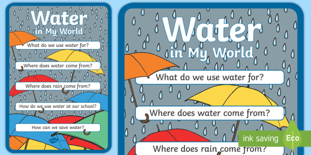 Water in our world classroom display posters science water water in our world classroom display posters science water resources water conservation altavistaventures Gallery