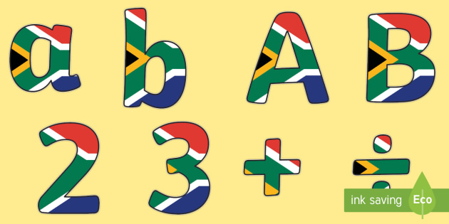 south africa flag display lettering sb8247 sparklebox new south display letters and numbers pack 381