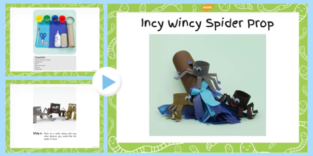 Incy Wincy Spider Prop Craft Instructions PowerPoint - craft