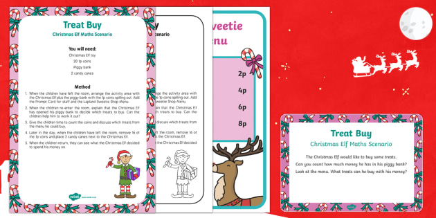 Treat By Christmas Elf Maths Scenario