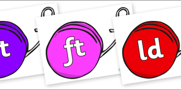 Final Letter Blends on Yo Yos - Final Letters, final letter, letter blend, letter blends, consonant, consonants, digraph, trigraph, literacy, alphabet, letters, foundation stage literacy