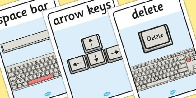Word Processing Skills Display Posters - Word, Skills, Display