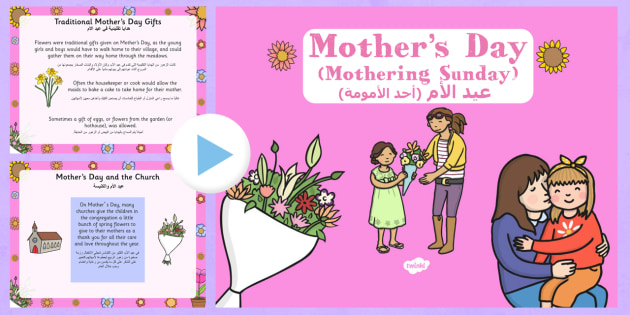 Mother's Day PowerPoint Presentation Arabic Translation - arabic, mothers day, presentation, assembly, powerpoint