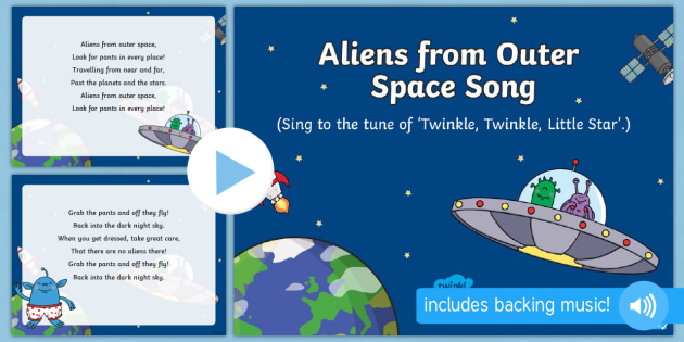 aliens from outer space song powerpoint eyfs early years