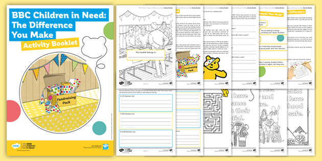 BBC Children in Need: The Difference You Make Activity Booklet