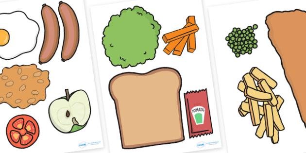 Food Cut Outs - food, food display, eat, healthy eating, health