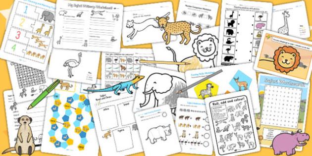 Safari Activity Pack - activities, games, classroom activities