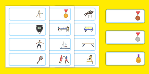 The Olympics Editable Drawer Peg Name Labels - Olympics, Olympic Games, sports, Olympic, London, 2012, Wren Label Templates, Resource Labels, Name Labels, Editable Labels, Drawer Labels, Coat Peg Labels, Peg Label, KS1 Labels, Foundation Labels, Foun