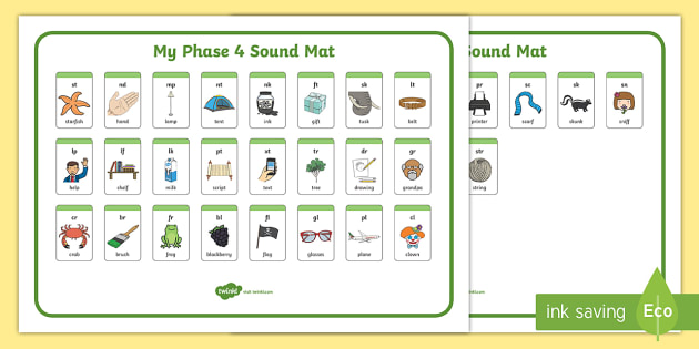 Blends And Clusters Sound Mat Sound Mat Letters And Sounds
