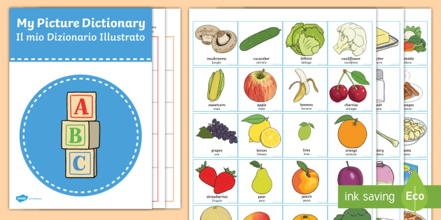 Food And Drink: Picture Dictionary Food And Drinks Word Cards Pack